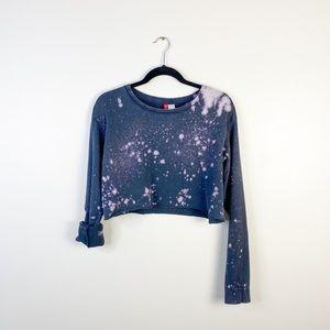 women's medium crop top sweatshirt gray top custom